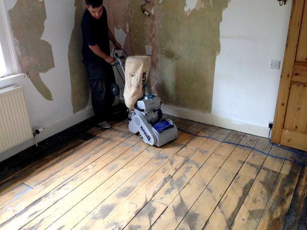 wood floor sanding redbridge