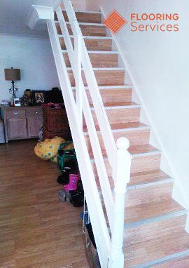 wooden staircase floor sanding london